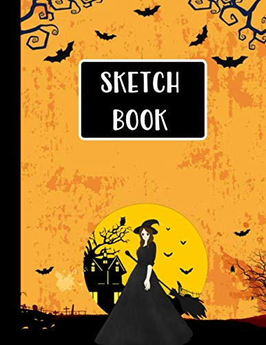 Witch Costumes Sketch - Sketch Book: Halloween Gifts for School