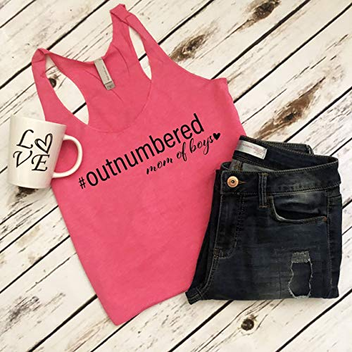 Outnumbered Shirt Mom Of Boys Birthday Gift Mother