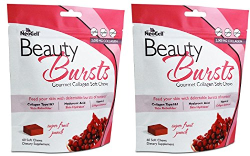 Soft Collagen (Neocell Beauty Burst Fruit Punch 60 chew (Pack of 2))