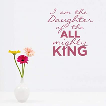 Amazoncom Wall Art Stickers Quotes And Sayings I Am The Daughter
