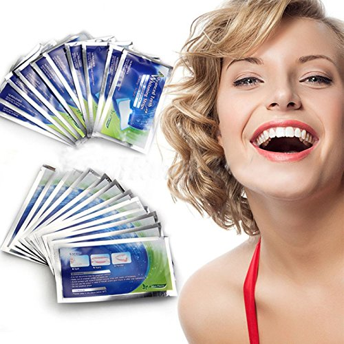 Teeth Whitening Strips, Teeth Whitener Strips, Effective Dental Whitening Kit Elastic Gels, 3D White Whitestrips for Teeth Stain Removal(14 x 2 pcs) AIDDKK