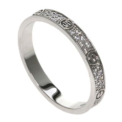 b9fb3e80f0303 Amazon | [カルティエ]ラブリング パヴェダイヤモンド SM B4218200 ...