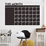 Nesee Chalkboard Wall Sticker, Fashion Month Plan Calendar Meno Blackboard Wallpaper Decor for Bedroom Living Room (60x92)