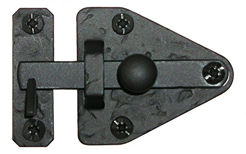 Acorn Hardware Cabinet Latches - Acorn Manufacturing RL1BP 2.8125 Inch Arrowhead Cabinet Latch, Black Iron Finish