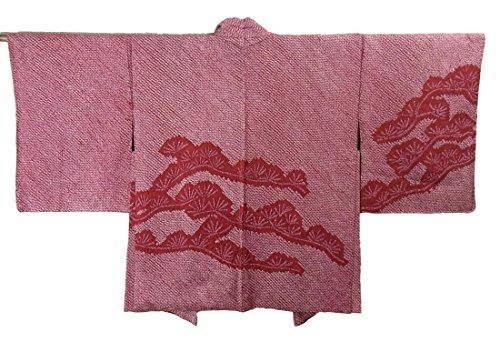 リサイクル 羽織  総絞り 松文 正絹 裄64cm 身丈74cm