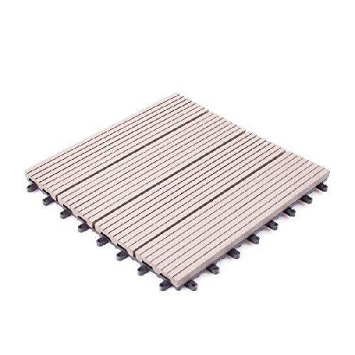 人工木 ウッドパネル タイプB 27枚セット ダークブラウン B0112EC1OU 12420