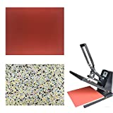 Sarira C High Temperature Resistant Red Heat Press Foam Pad & Multicolor Heat Press Sponge Cushion Mat,Heat Press Machine Transfer Sheets,Extra Thick,2 Pack