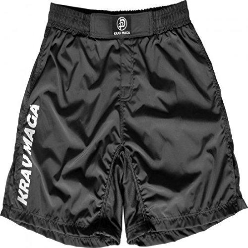 Krav Maga Negro Rendimiento MMA Pantalón Corto De Entrenamiento - 71cm