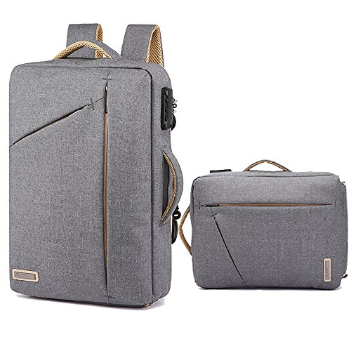 15.6 Inch Laptop Briefcase Backpack Anti Theft Convertible Multi-functional 3 in 1 Laptop Rucksack Messenger Single-shoulder Backpack Handbag Water Resistant Business Travel Satchel Bag for Men Women