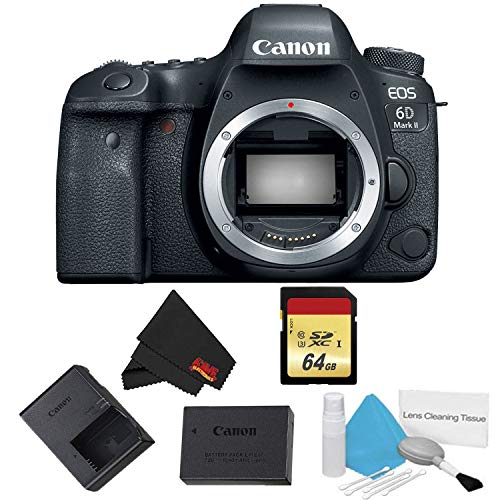 Receiver Canon - Canon EOS 6D Mark II DSLR Camera (Body Only) Basic Bundle - International Model