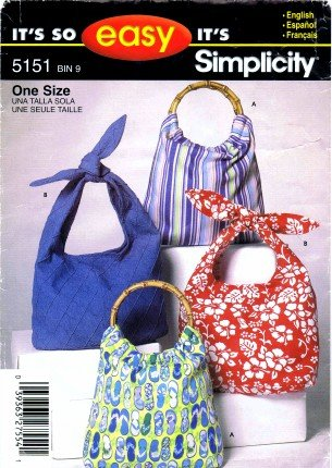 Amazon Simplicity 5151 Sewing Pattern Hobo Bag Handbag Purse