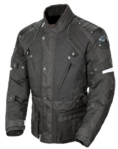 (Joe Rocket Ballistic Revolution Men's Textile Riding Jacket (Black, Large))