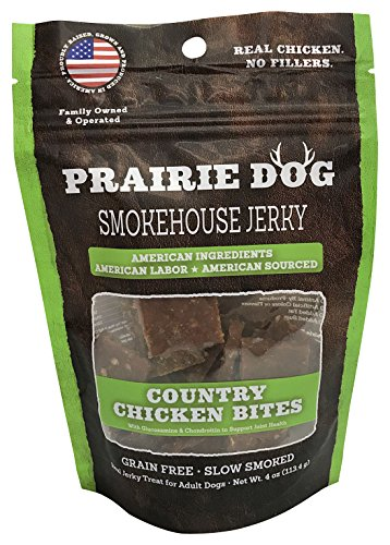 (Prairie Dog Smokehouse Country Chicken Bites Dog Treats, 4 Oz.)