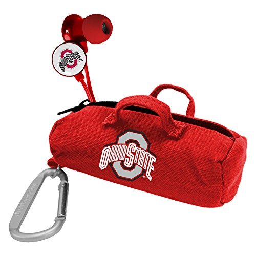 NCAA Ohio State Buckeyes Scorch Earbuds with Bud Bag