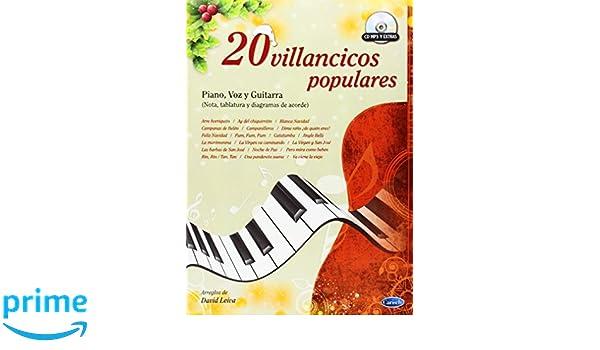 20 Villancicos Populares: Amazon.es: David Leiva Prados, Voice, Guitar Piano: Libros
