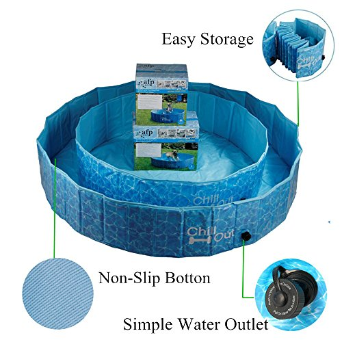 ALL FOR PAWS Outdoor Bathing Dog Pool Portable Pet Bath Tub Blue by ALL FOR PAWS (Image #3)