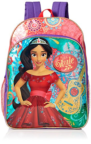 Disney Little Girls Elena 16 Inch Backpack, Red, One Size