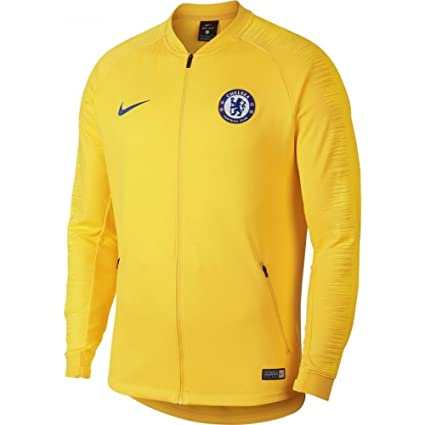 Amazon.com   Nike 2018-2019 Chelsea Anthem Jacket (Yellow)   Sports ... 8a8a5c20f
