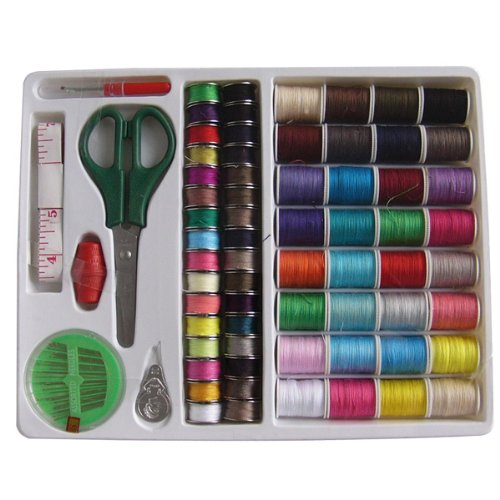 - Foxnovo 100-in-1 Essential Sewing Tools Kit Needlework Box Set for Domestic Sewing Machine Sewing Kit Thread Needle Tape Scissor Thimble Set
