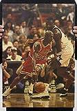 Fangeplus Michael Jordan Basketball Player NBA Star Poster Antique Vintage Old Style Decorative Poster Print Wall Coffee Shop Bar Decor Decals 20''x13.9''
