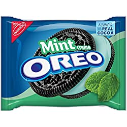 Oreo Mint Creme Chocolate Sandwich Cookies, 15.25 Ounce