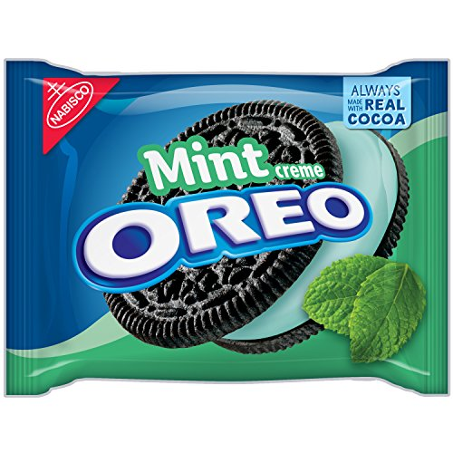 Oreo Mint Creme Chocolate Sandwich Cookies, 15.25 Ounce -