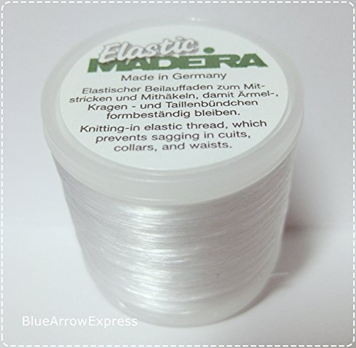 Knitting Thread Elastic (3 X Madeira Elastic Invisible Knitting-in Yarn 220 yd for Cuffs, Collars, Waists)