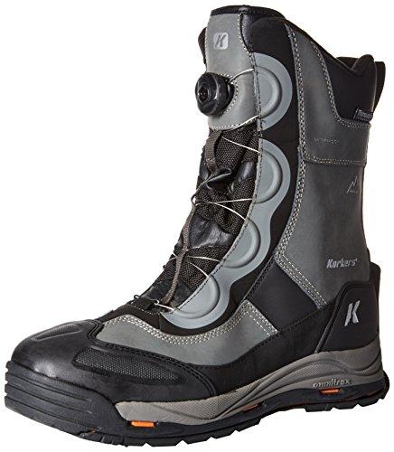 Korkers Footwear Mens Icejack Boa Snow Boot Gun Metal