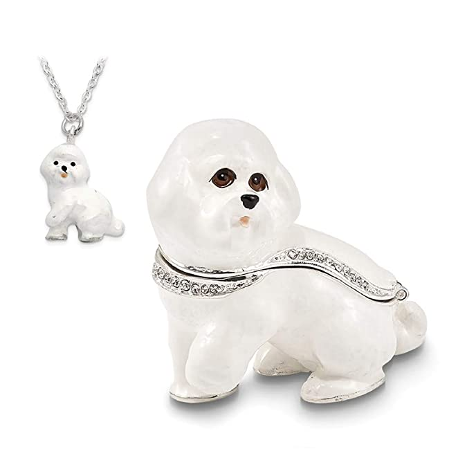 Amazon com: Jere Luxury Giftware Bejeweled Brenda Bichon