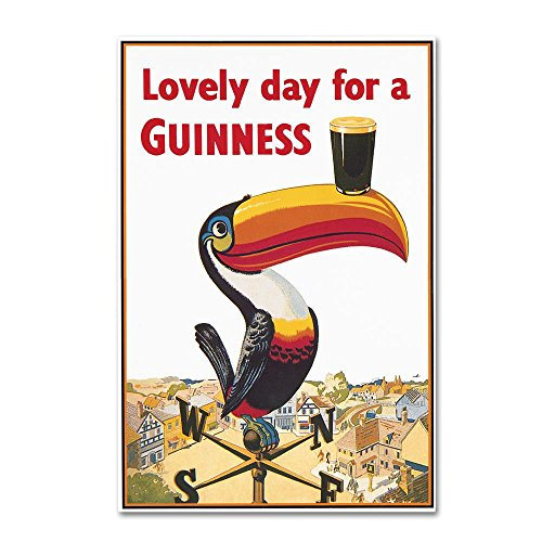 Trademark Fine Art GN0046-C2232GG Lovely Day VIII by Guinness Brewery, 22x32-Inch, ()