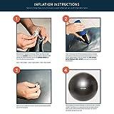 Retrospec Luna Exercise Ball, Base & Pump with