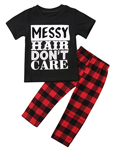 Canis Little Girls Short Sleeve Messy Hair Don