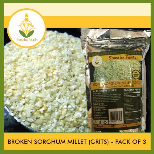 Shastha Broken Sorghum Millet (Pack of 3) Each Pkt 500g (B-P)
