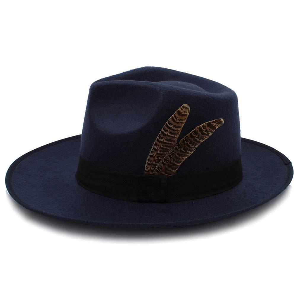 RXIN Fashion Women Men Felt Fedora Hat Winter Autumn Wide Brim Jazz Hat Gentleman Sombrero