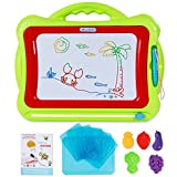 SGILE Magnetic Drawing Board Toy, Latest Magna Doodle Writing Painting Board 5 Stamps