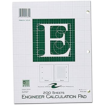 Amazon.com : NATIONAL Brand Computation Pad, Plain & 5 X 5 Quad On ...