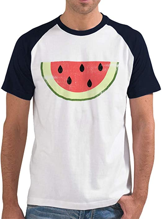 latostadora - Camiseta Sandia para Hombre Azul Marino L ...