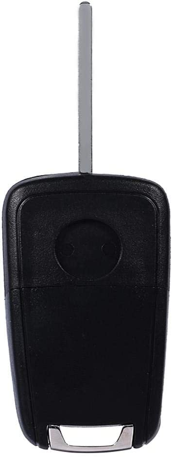 Terisass 3 Buttons Remote Key Fob Case 1Pc Key Fob No Chip Entry Remote Flip Shell Case /& Pad Black for Vauxhall Opel Astra Insignia Zafira Holden ABS Plastic and Metal