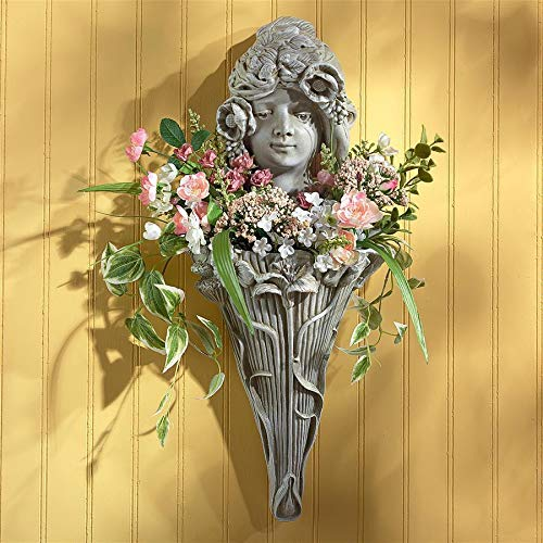 Design Toscano Art Nouveau Mystic Maiden Wall Pocket Planter Sculpture ()