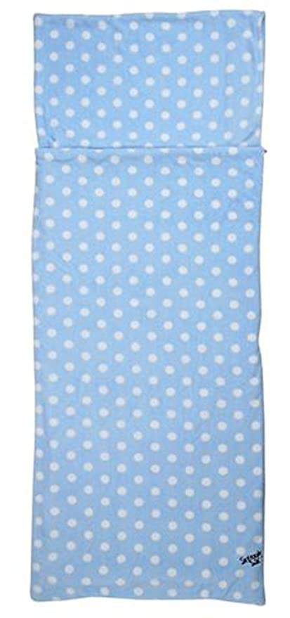 Snuggle Sac Fleecy - Saco de dormir, color Blue/White Spots, tamaño Matrimonio