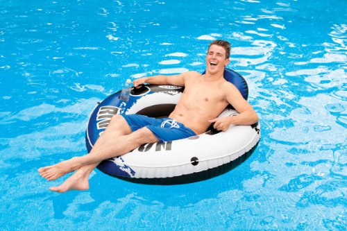 Intex River Run 1 Person Floating Tube (6 Pack) & River Run Lounge (4 Pack) by Intex (Image #4)