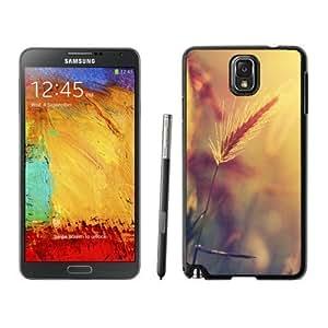 NEW Unique Custom Designed Samsung Galaxy Note 3 N900A N900V N900P N900T Phone Case With Wheat Plant Closeup Warm Colors_Black Phone Case