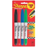 Sharpie 32174-SH Twin Tip 4 Pack (Red,Blue,Green, and Black) by Sharpie