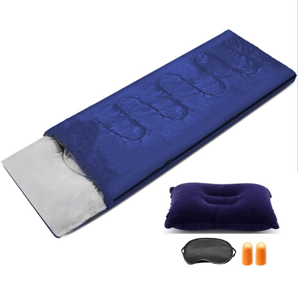 Darkbleu 1.3kg YL-lumière Sac de Couchage de Camping enveloppe de Couchage imperméable + Costume de Nuit adapté au Festival de randonnée Sac à Dos de Camping - y Compris la Compression