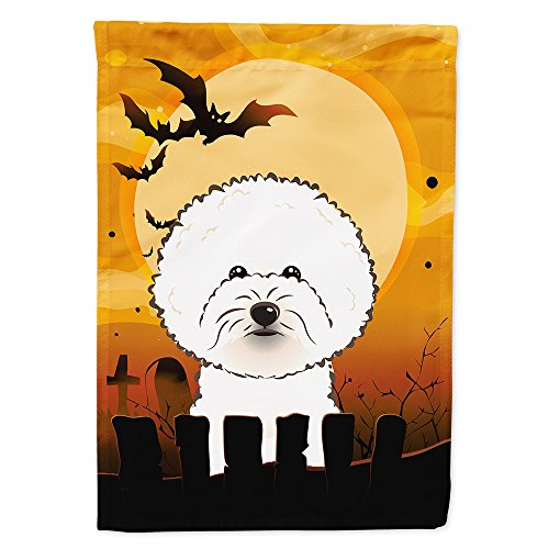 Caroline's Treasures BB1775GF Halloween Bichon Frise Garden Size Flag, Small, Multicolor -