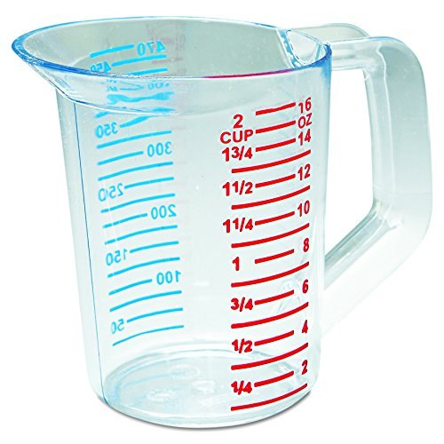 Rubbermaid Commercial 3215 1 pint Capacity, Clear Color, Polycarbonate Bouncer Measuring Cup