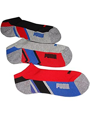 Men's Premium No Shows Socks, Size 10-13, Multi, (Pack of 3)