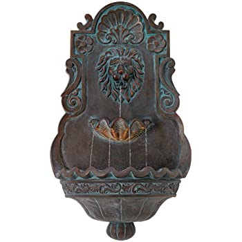 Lion Head Bronze 31 1/2u0026quot; High Indoor Outdoor Fountain