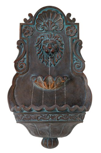 Cheap Lion Head 31 1/2″ High Indoor Outdoor Bronze Wall Fountain