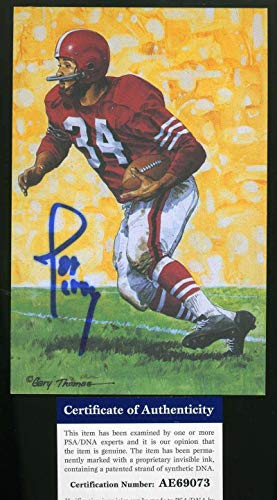 JOE PERRY Autograph Goal line Art Card GLAC Hand Signed - PSA/DNA Certified - NFL Autographed Football Cards
